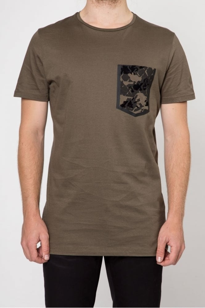 Antony Morato Pattern Pocket T-Shirt Olive