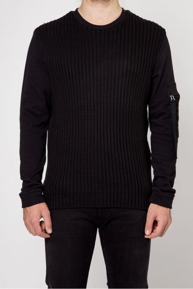 Blood Brother Tensile Knitted Sweater Black