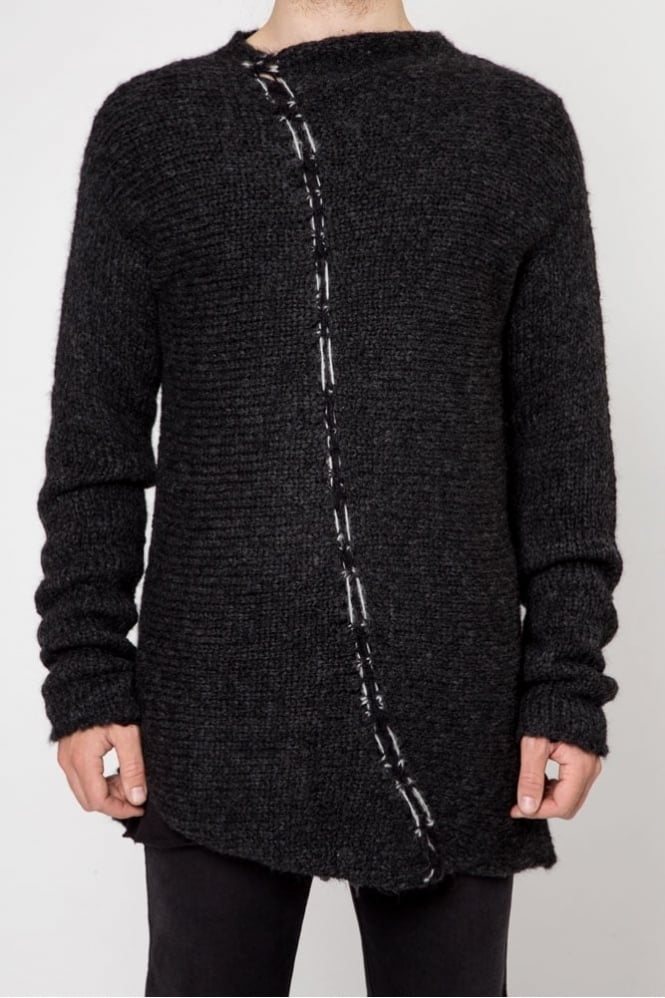 Thom Krom M K 37 Knitted Sweater Dark Grey