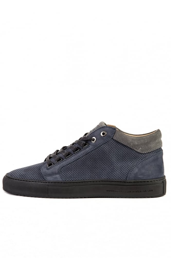 Android Homme Propulsion Perforated Trainers Navy