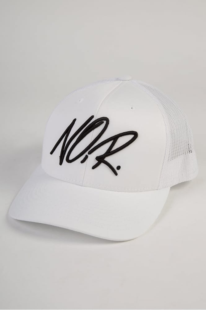 Societe Noir Scribbler Trucker Cap White/Black
