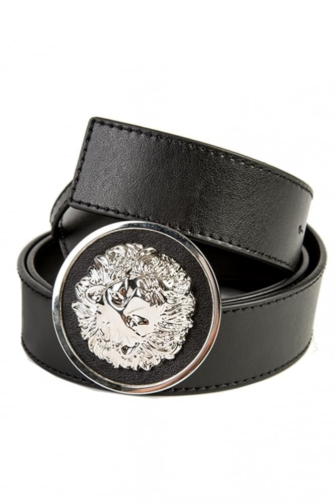 Versus Versace Lion Medallion Belt Black