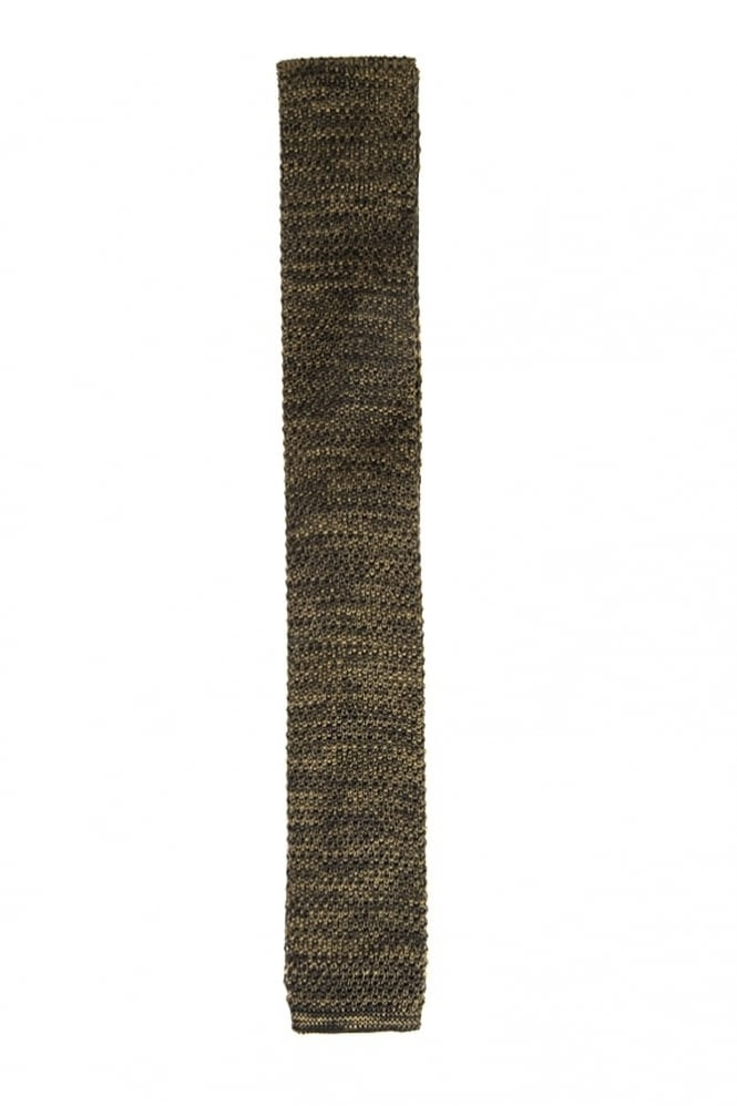 Gibson Melange Knitted Tie Olive