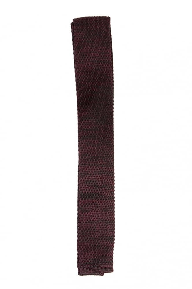 Gibson Melange Knitted Tie Purple