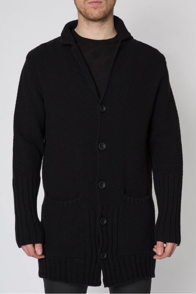 Hamaki-Ho Knitted Button Down Cardigan Black