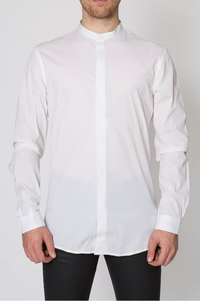 Hamaki-Ho Round Collar Shirt White