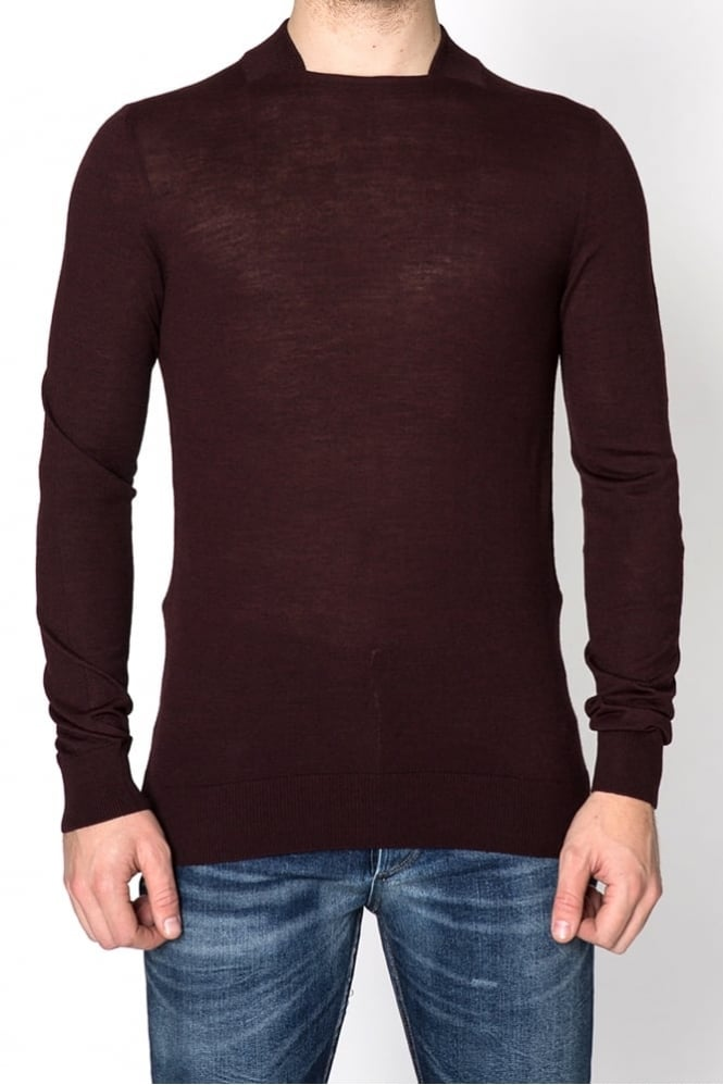 Remus Uomo Square Neck Sweater Burgundy