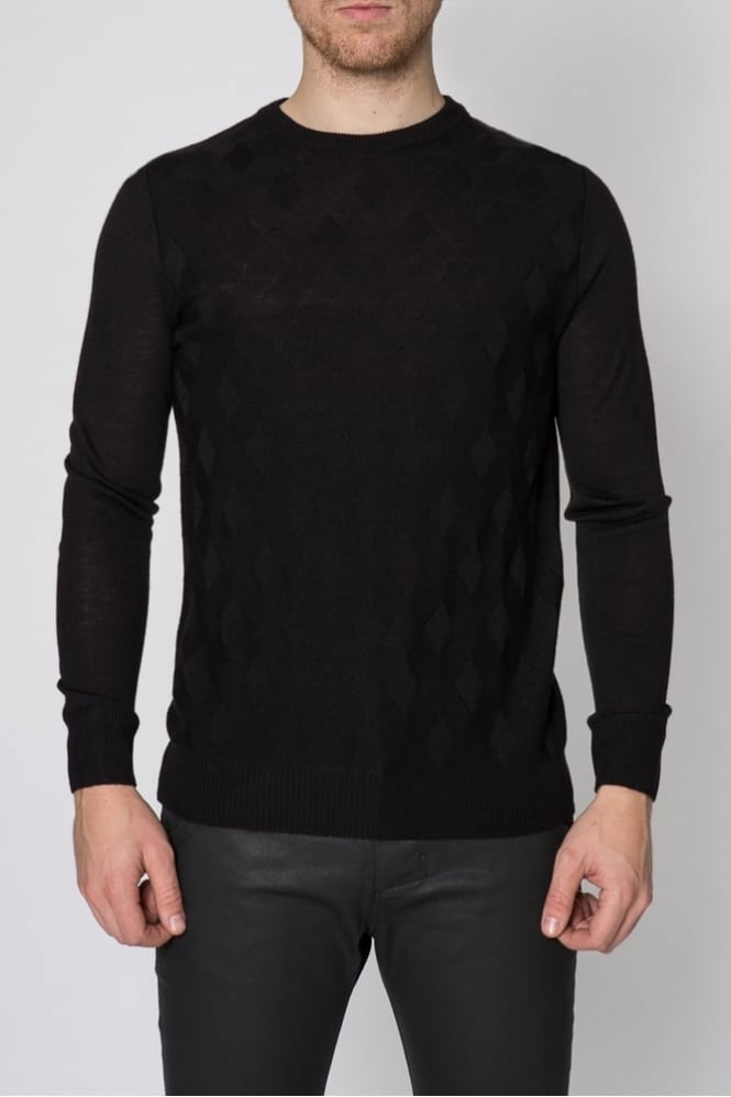 Hamaki-Ho Knit Jacquard Sweater Black
