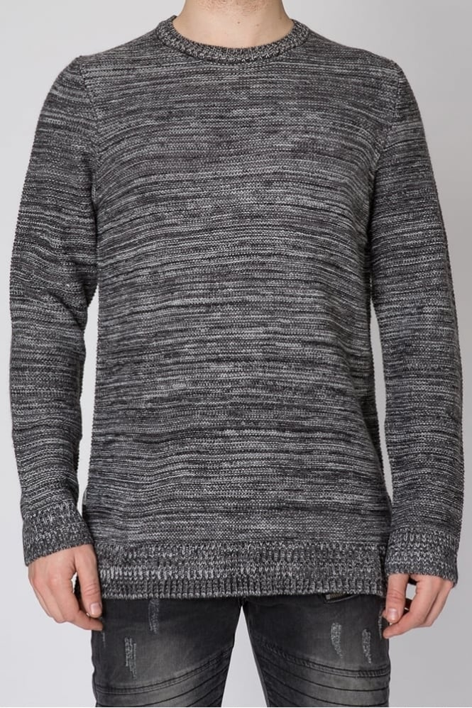 Black Kaviar Karven Knitted Sweater Dark Grey