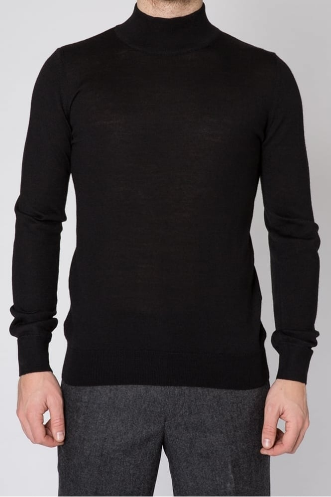 Remus Uomo Turtle Neck Sweater Black