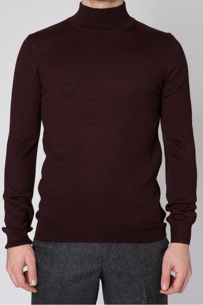 Remus Uomo Turtle Neck Sweater Burgundy