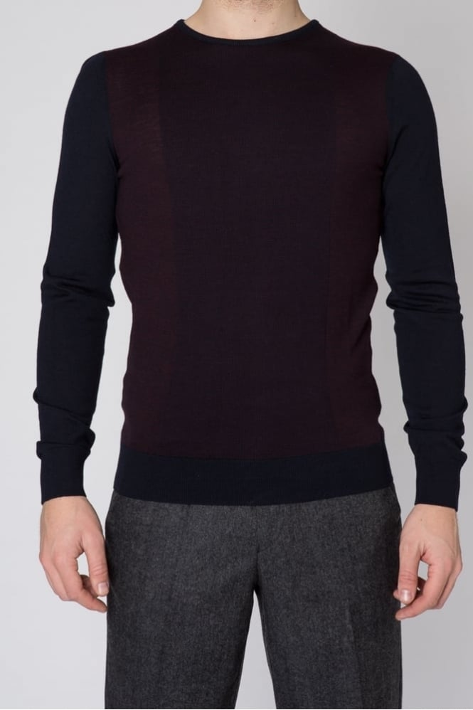 Remus Uomo Crew Neck Sweater Burgundy