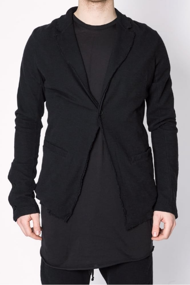 Thom Krom Raw Edge Jersey Blazer Black