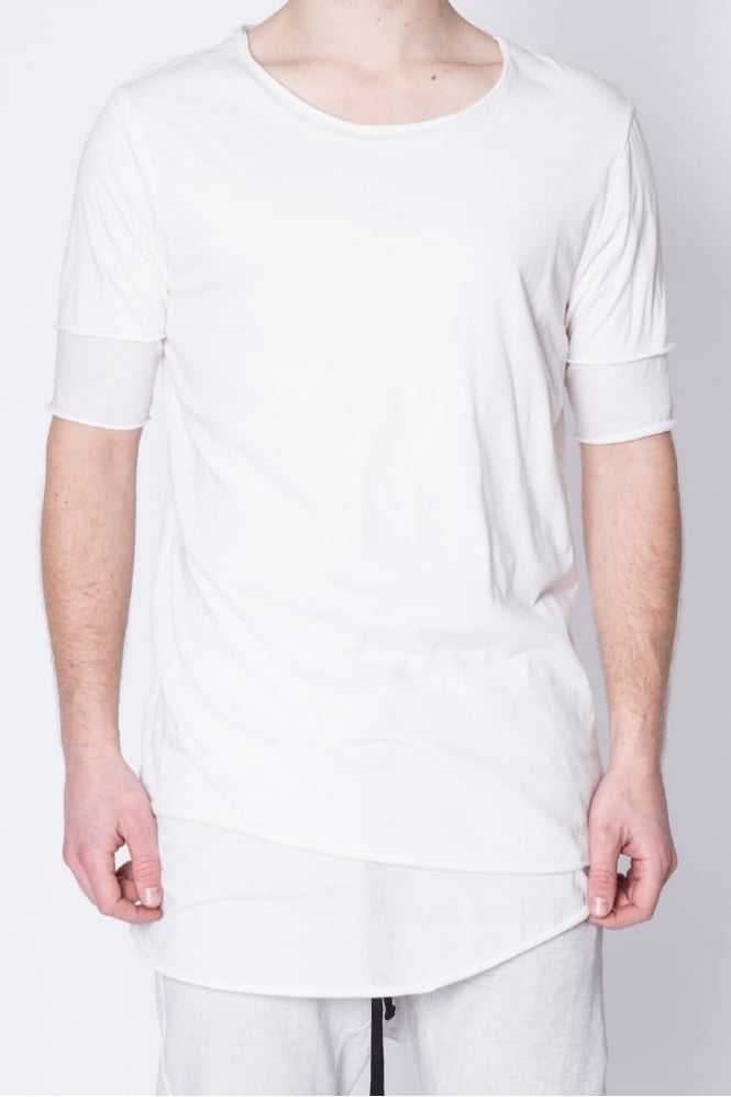 Thom Krom Short Sleeve Layered T-Shirt White