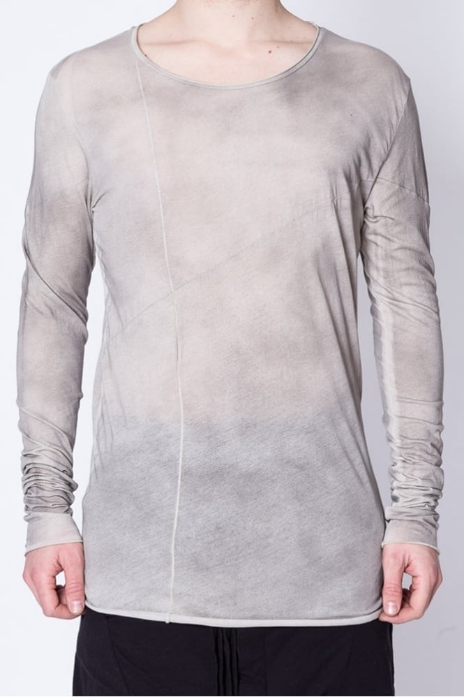 Thom Krom Long Sleeve Panel T-Shirt Stone