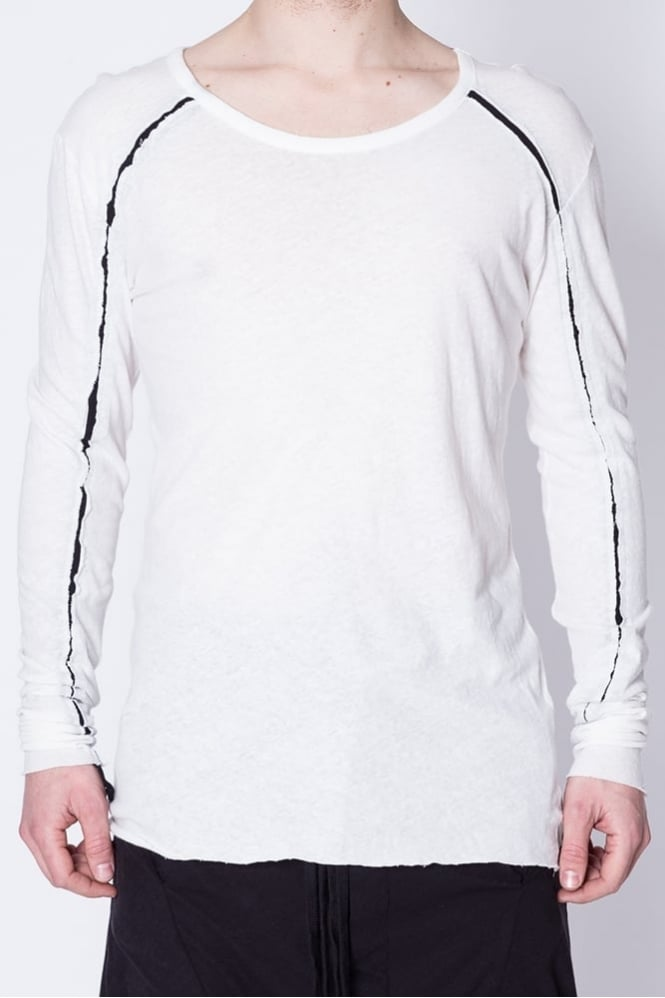 Thom Krom Long Sleeve Seam T-Shirt White