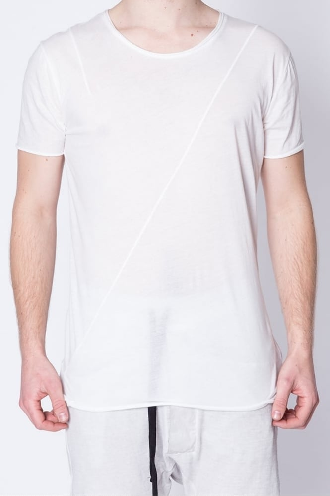 Thom Krom Short Sleeve Panel T-Shirt White