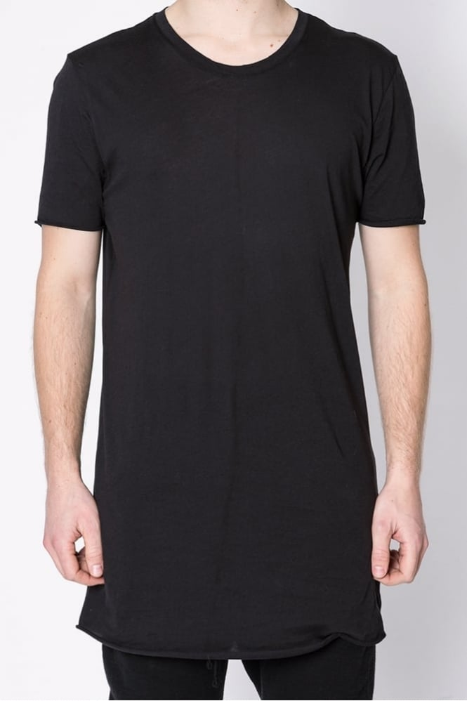 Thom Krom Raw Edge Longline T-Shirt Black