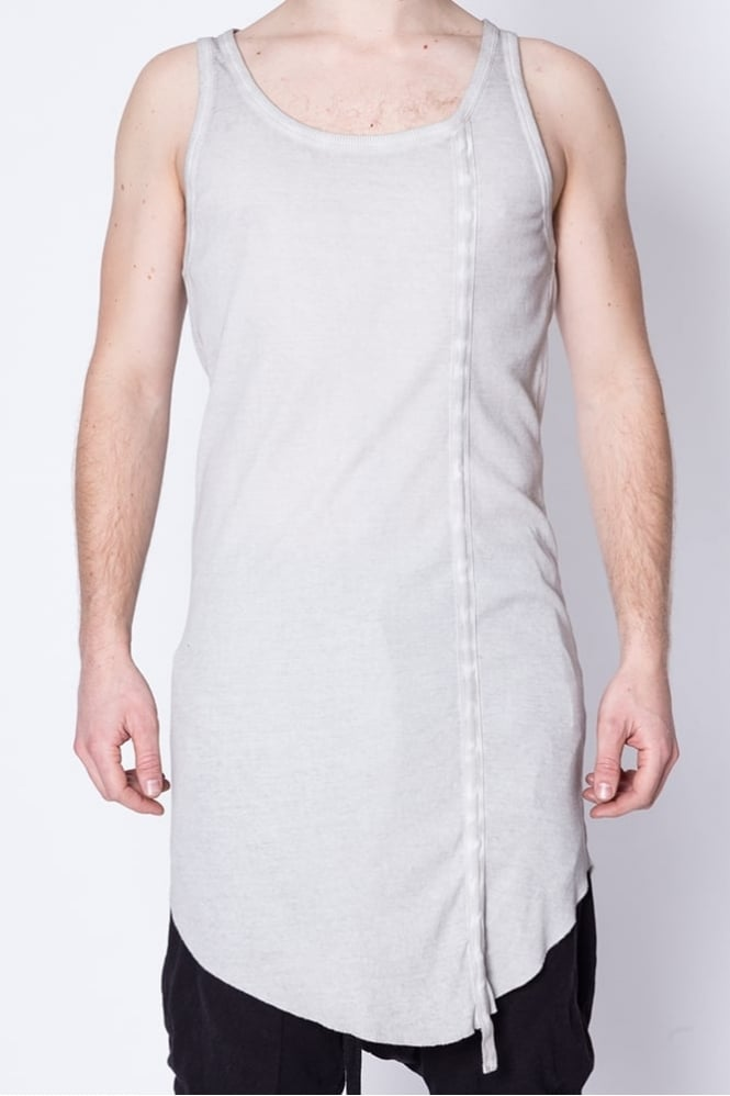 Thom Krom Ribbed Detail Vest Grey