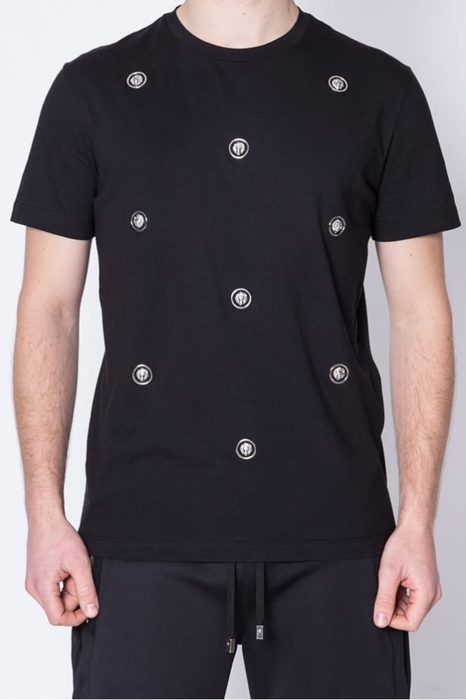 Versus Versace Scattered Logo T-Shirt Black