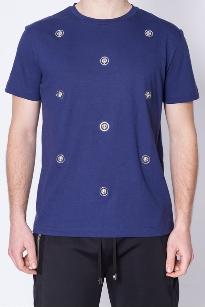 Versus Versace Scattered Logo T-Shirt Blue