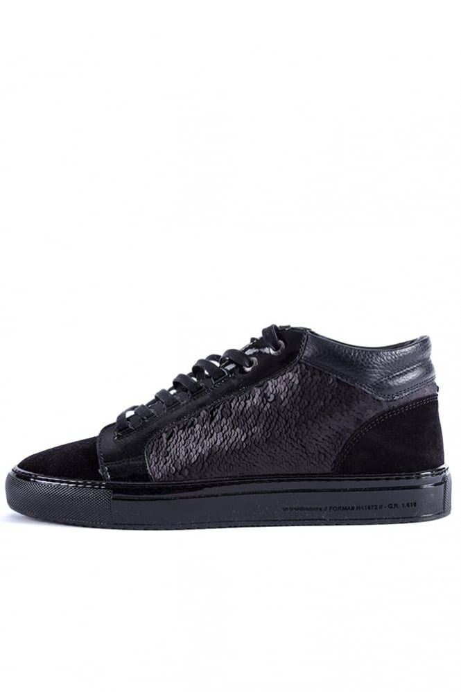 Android Homme Propulsion Mid Sequin Trainers Black
