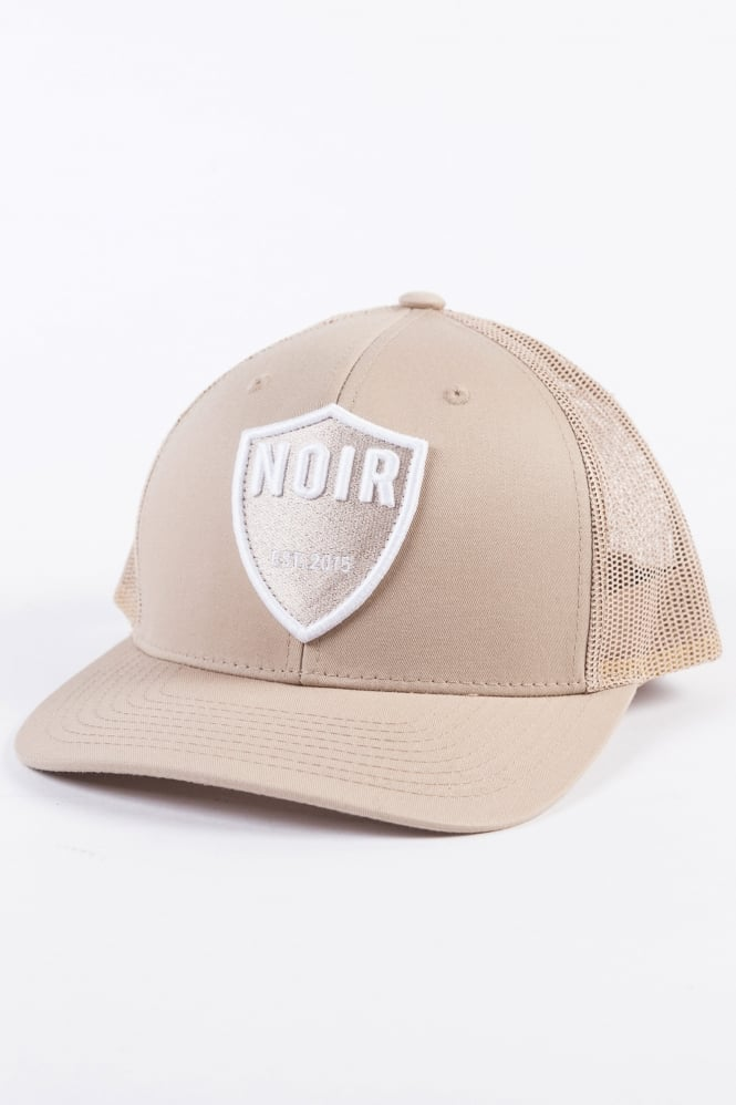 Societe Noir Shield Trucker Cap Beige