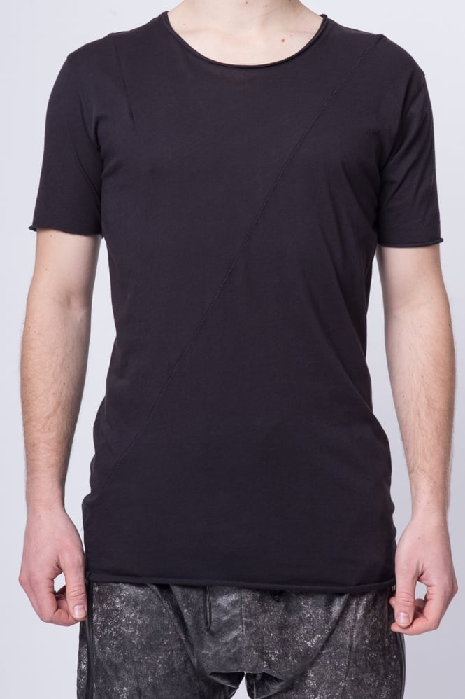 Thom Krom Short Sleeve Panel T-Shirt Black