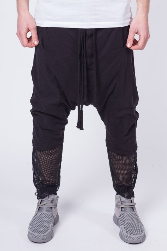 Thom Krom Drop Crotch 3/4 Sweatpants Black