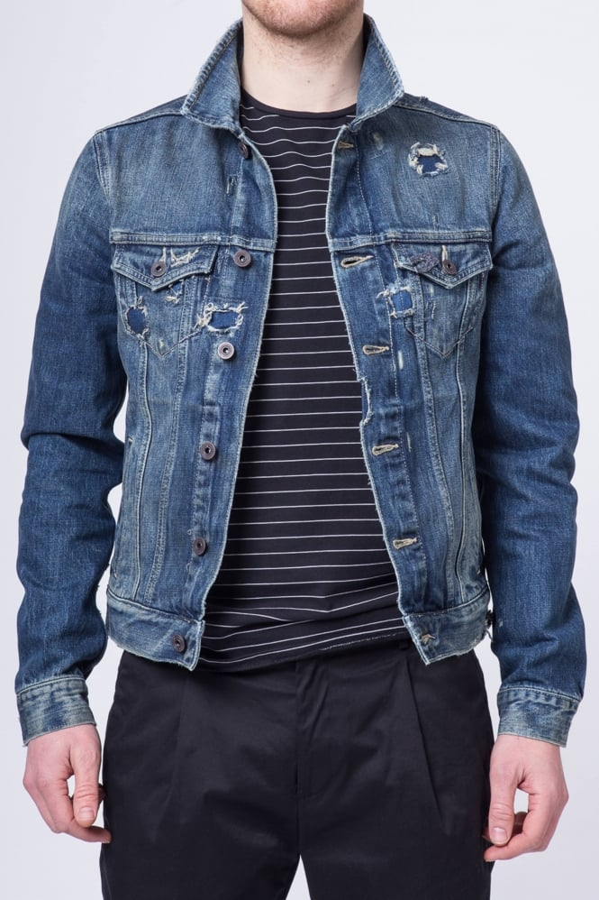 Scotch & Soda Trucker Denim Jacket Dark Blue