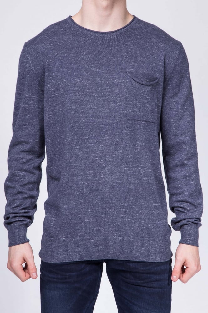 Remus Uomo Lisbon Long Sleeved Sweater Blue