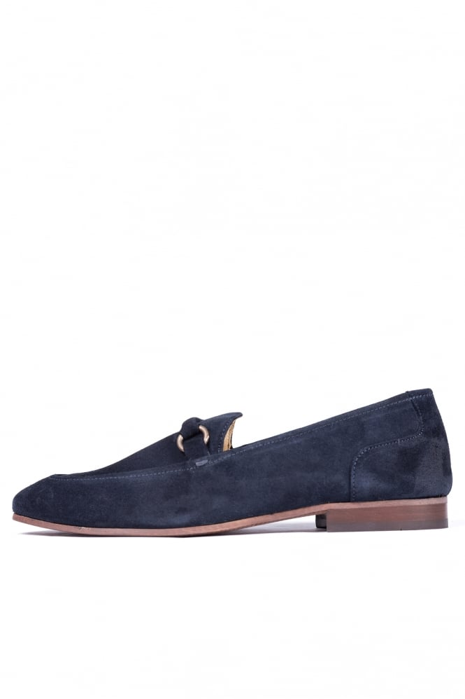 Hudson London Renzo Suede Loafers Navy