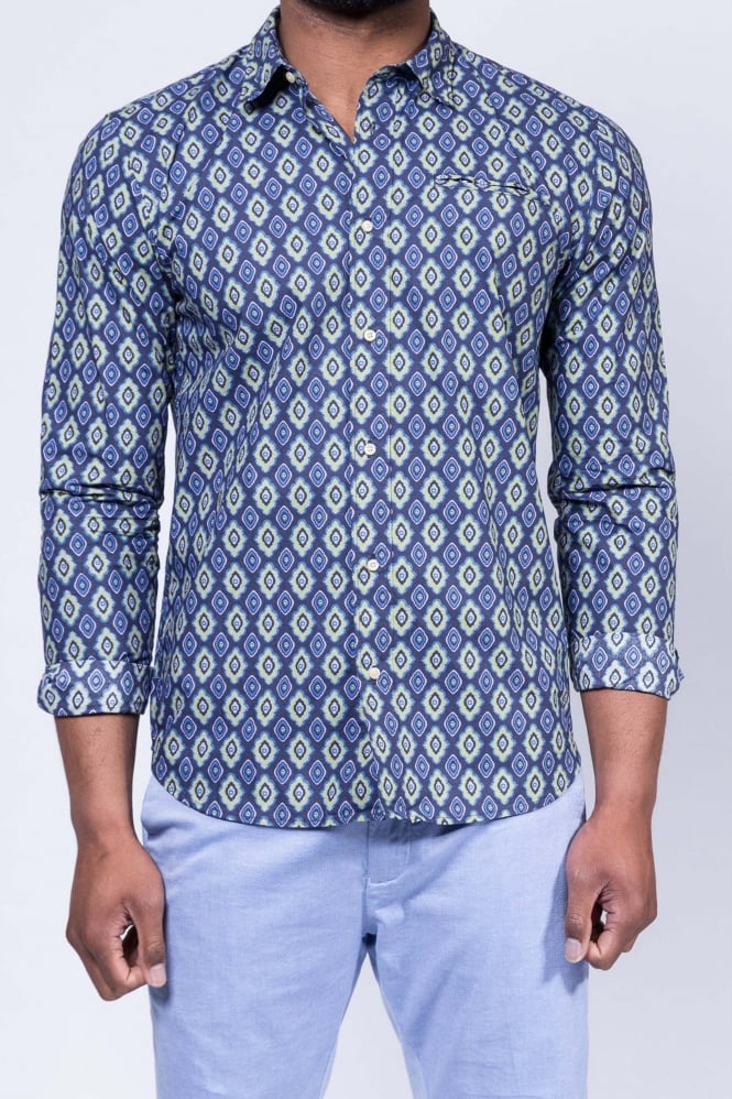 Scotch & Soda Cotton Poplin Shirt Blue