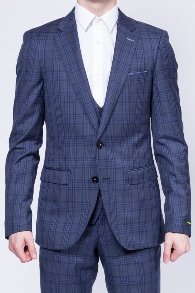 Remus Uomo Livo Checked Jacket Navy