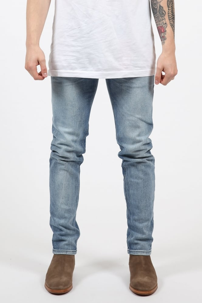 Scotch & Soda Tye Slim Fit Carrot Jeans Light Blue