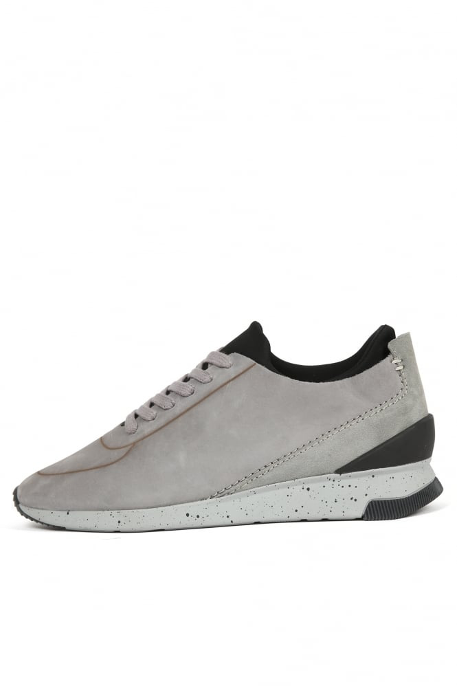 H by Hudson Sime Nubuck Trainers Grey