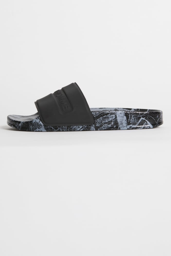 Android Homme 3M Marble Print Slides Black