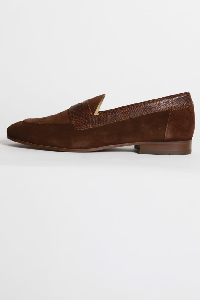Hudson London Follen Suede Loafer Brown