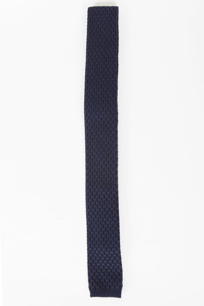 Gibson Smart Knitted Tie Navy