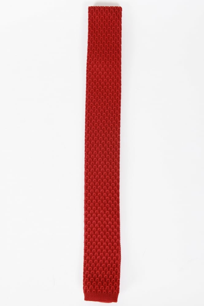 Gibson Smart Knitted Tie Red