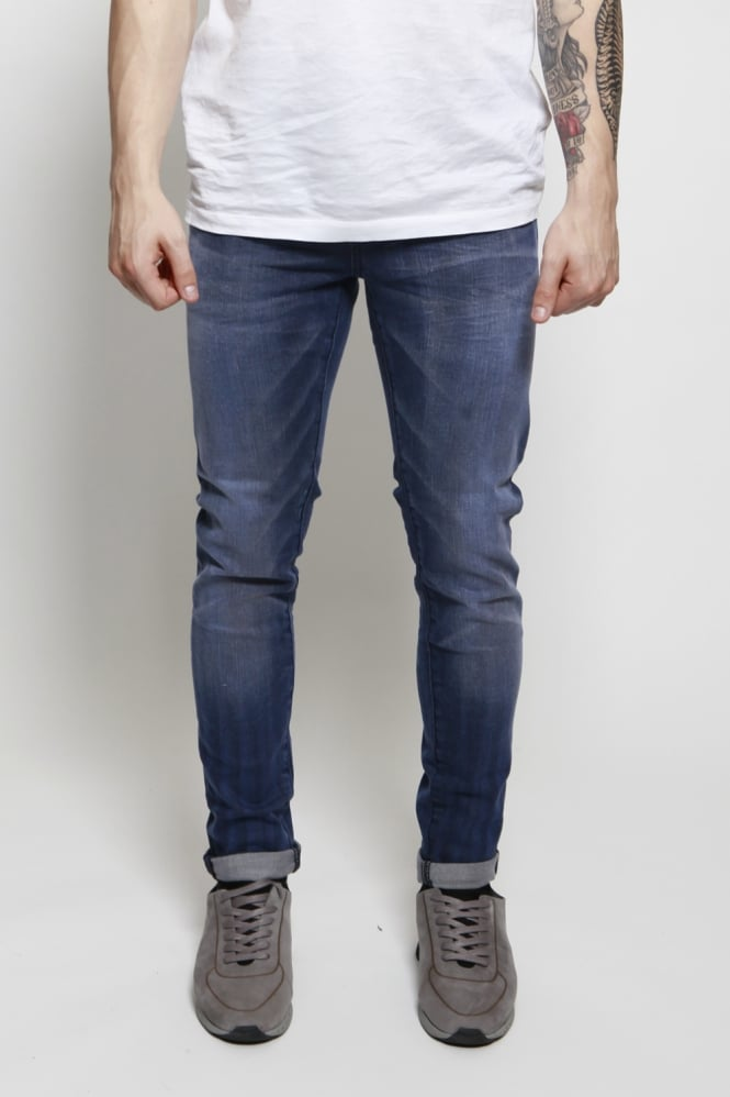 Scotch & Soda Skim Blue Bath Skinny Jeans Blue