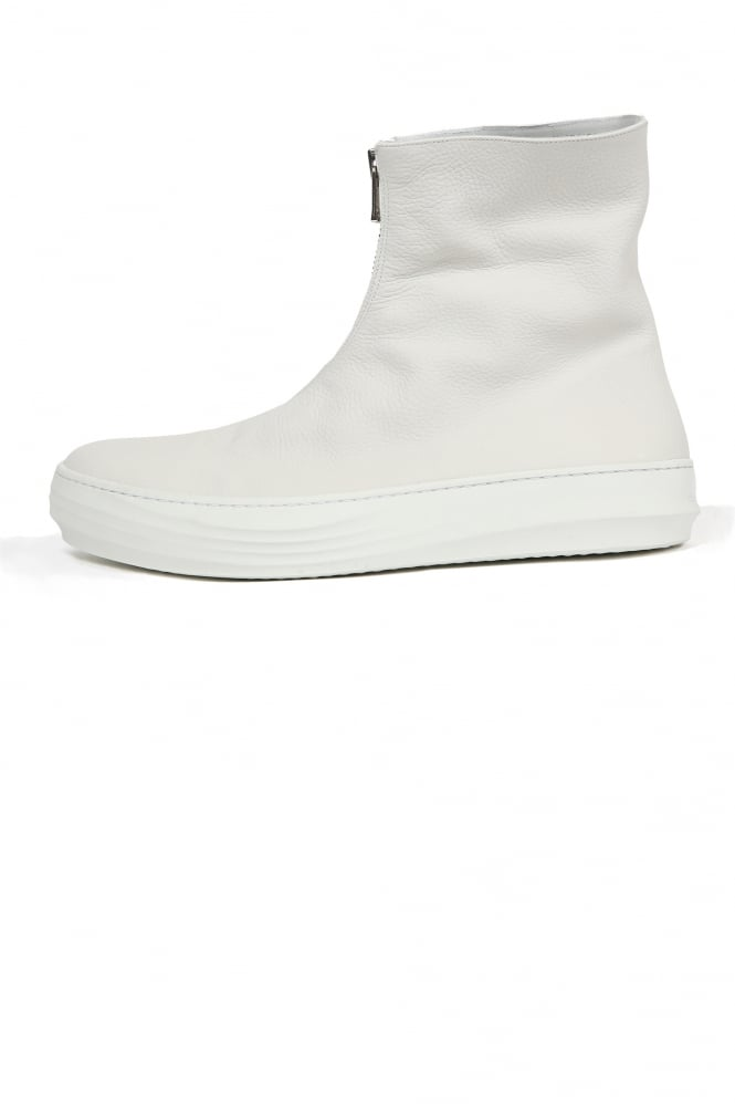 The Last Conspiracy Tome Front Zip Boots White