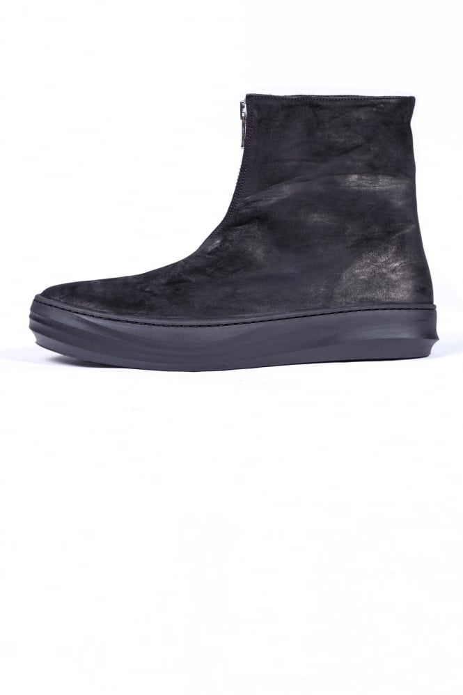 The Last Conspiracy Tome Front Zip Boots Black
