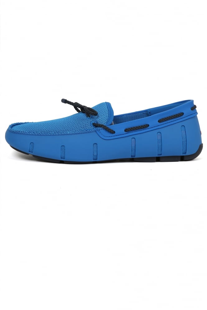 Swims Braided Lace Loafers Blue