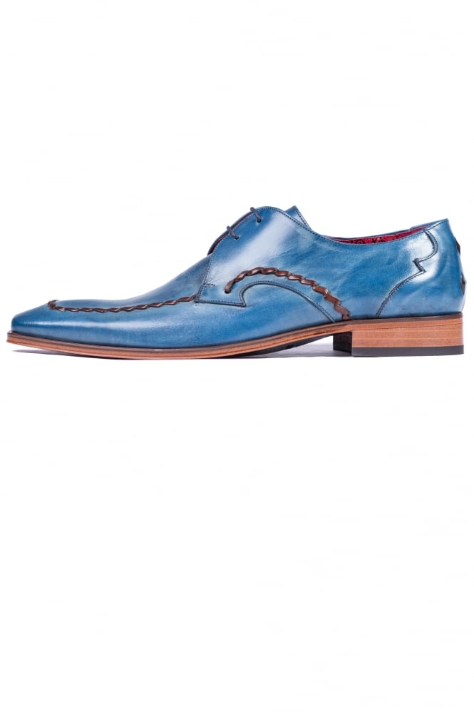 Jeffery West Thone Gibson Shoes Blue