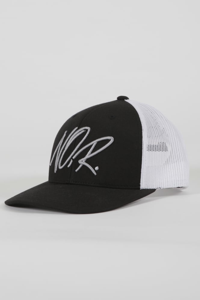 Societe Noir Iconic Noir Trucker Hat Black/White