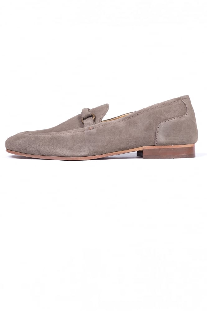 H by Hudson Renzo Suede Loafer Taupe