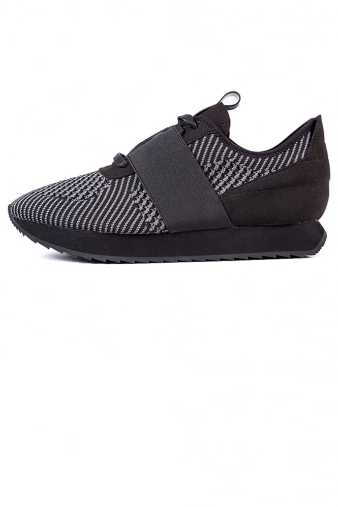 Cortica Racer Elastic Strap Trainers Black