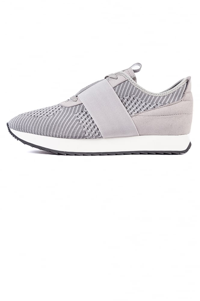 Cortica Racer Elastic Strap Trainers Grey