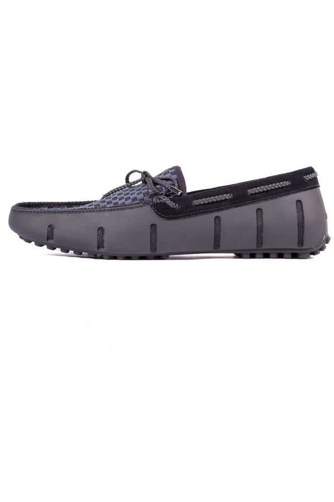 Swims Lace Loafers Woven Black